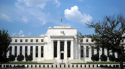 """""""Marriner S. Eccles Federal Reserve Board Building"""" by AgnosticPreachersKid - Own work. Licensed under CC BY-SA 3.0 via Commons"""