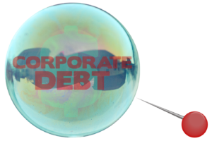Grahpic: Corporate debt bubble near sharp pin