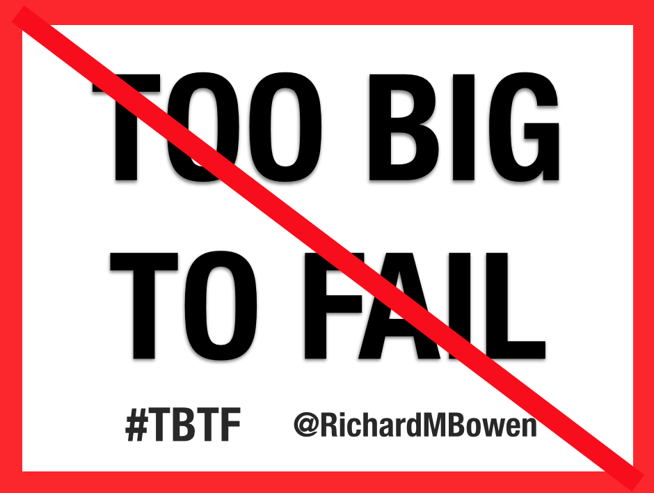 Ethical leadership speaker Richard Bowen discusses about Too Big To Fail