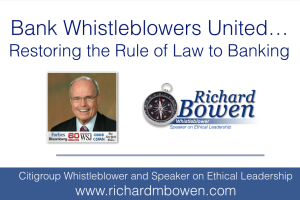 Bank Whistleblowers United… Restoring the Rule of Law to Banking