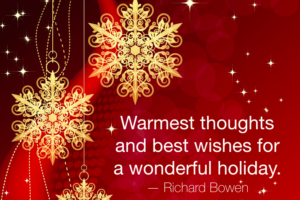 Best wishes for a wonderful holiday