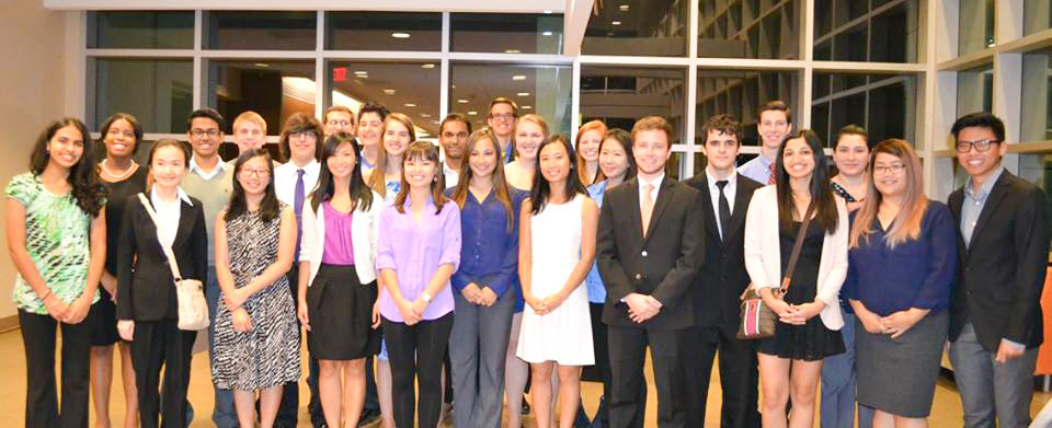 Members of the University of Texas - Dallas chapter of Golden Key