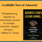 "It's available!  ""Business Ethics Lessons Learned…A Citigroup Whistleblower's Perspective"" – Now At Amazon"