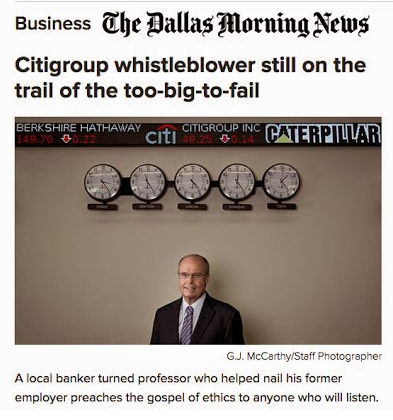 Ethical Leadership Speaker Richard Bowen in the Dallas Morning News