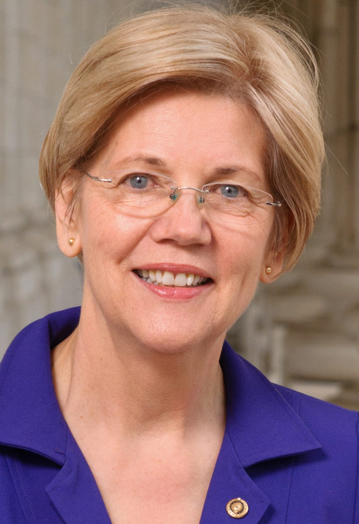 Senator Elizabeth Warren (D-MA). CC US Senate