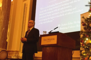 Picture of Richard M. Bowen speaking at the Institute of Banking Certified Bank Director Conference