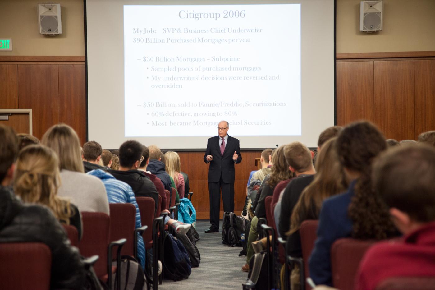 Image: Bowen speaking at BYU