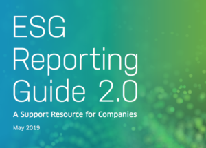 Screenshot of NASDAQ's ESG Reporting Guid 2.0 cover