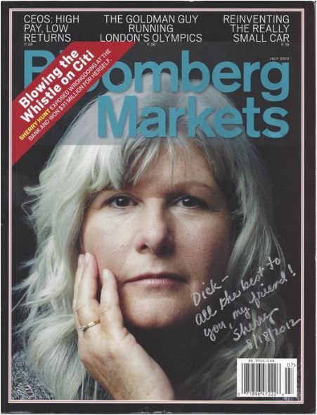 Sherry Hunt in Bloomberg Markets Cover