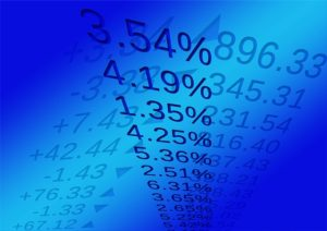 Grahpic of percentage numbers representing the stock market